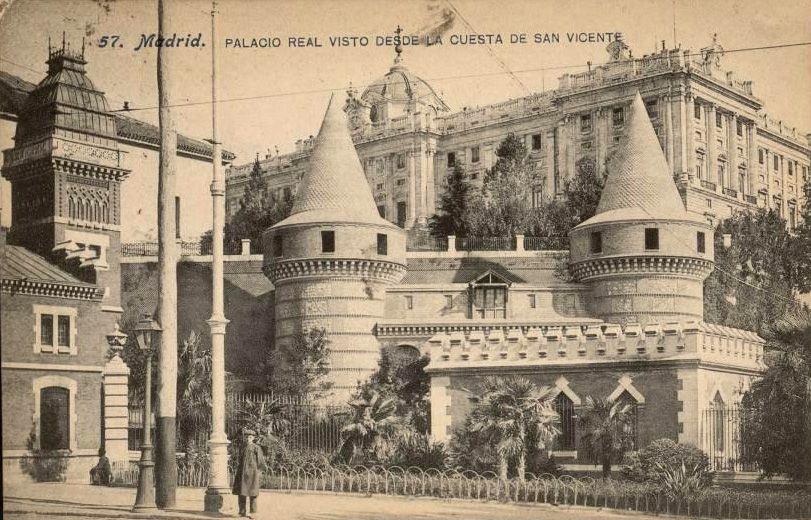 Palacio real visto desde la cuesta de san vicente anterior a 1910 j lacoste tarjeta postal - San vicente del palacio ...