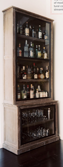 Bar Liquor Cabinet: Now Thatu0027s A Lot Of Booze
