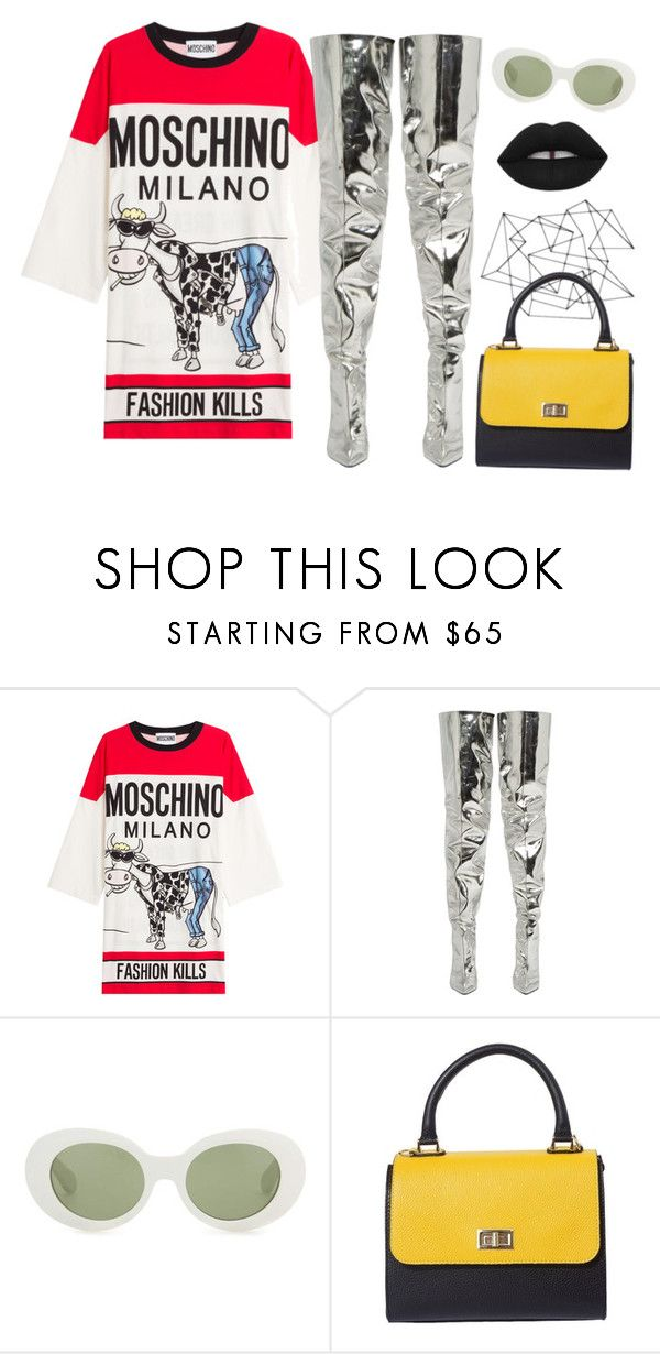 """""""blessing"""" by chanelandcoke ❤ liked on Polyvore featuring Moschino, Balenciaga, Acne Studios and Lime Crime"""