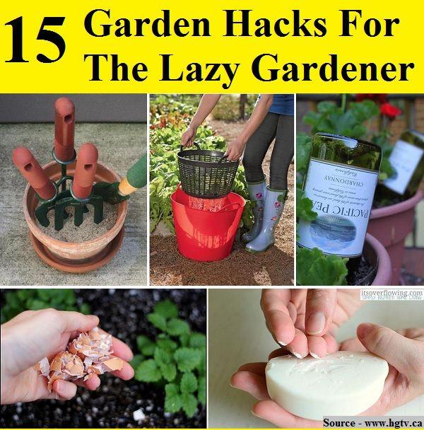 15 garden hacks for the lazy gardener - Garden Hacks
