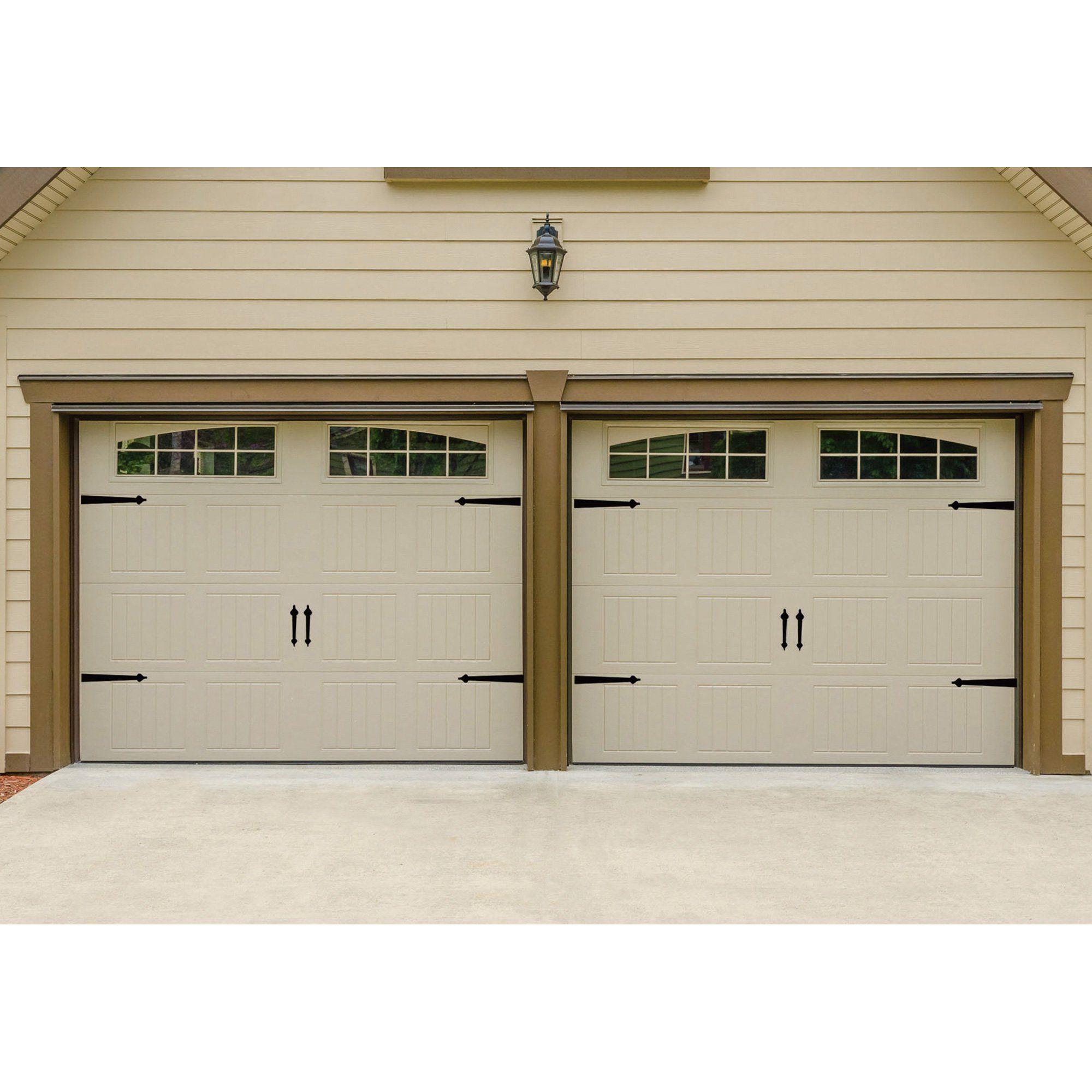 Garage Door Premium Hardware Magnetic Decorative Spade Handle Set