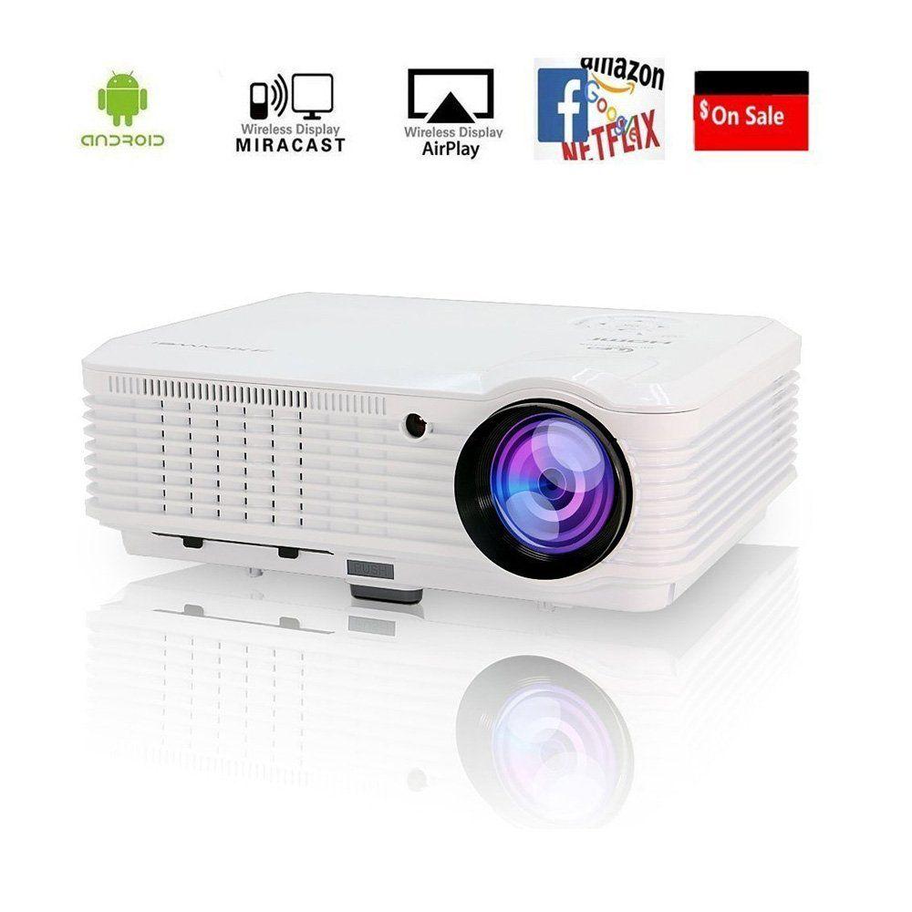 Video Projector Wireless WiFi 3600 Lumen Support 1080P Full HD, Home ...