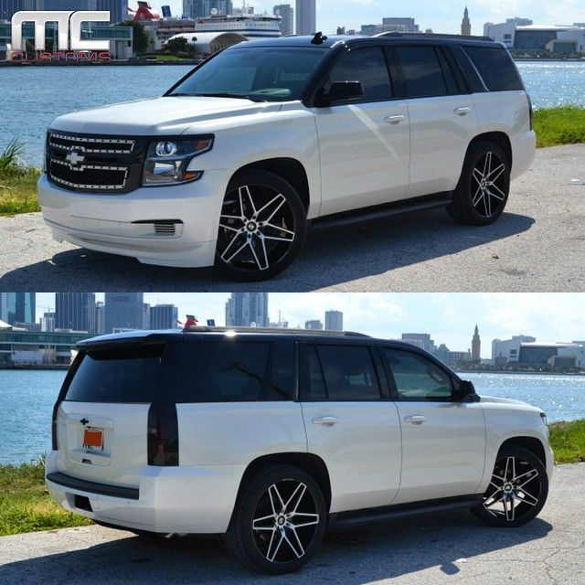 Custom 2015 Tahoe >> 2015 Chevrolet Tahoe With Blacked Out Accents Painted Black Top