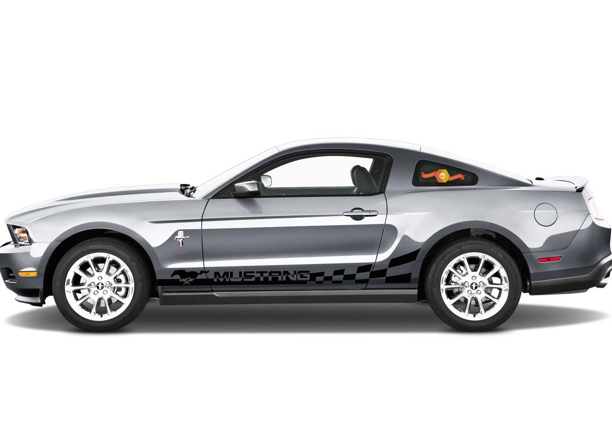 Ford Mustang 2x Side Stripes Vinyl Body Decal Sticker Graphics Premium Quality Mustang Vinyl Ford Mustang [ 873 x 1200 Pixel ]