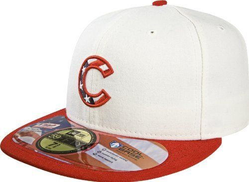 c5ba047e3ec Chicago Cubs 2010 Authentic On-Field Stars and Stripes 59FIFTY Fitted Hat  by New Era