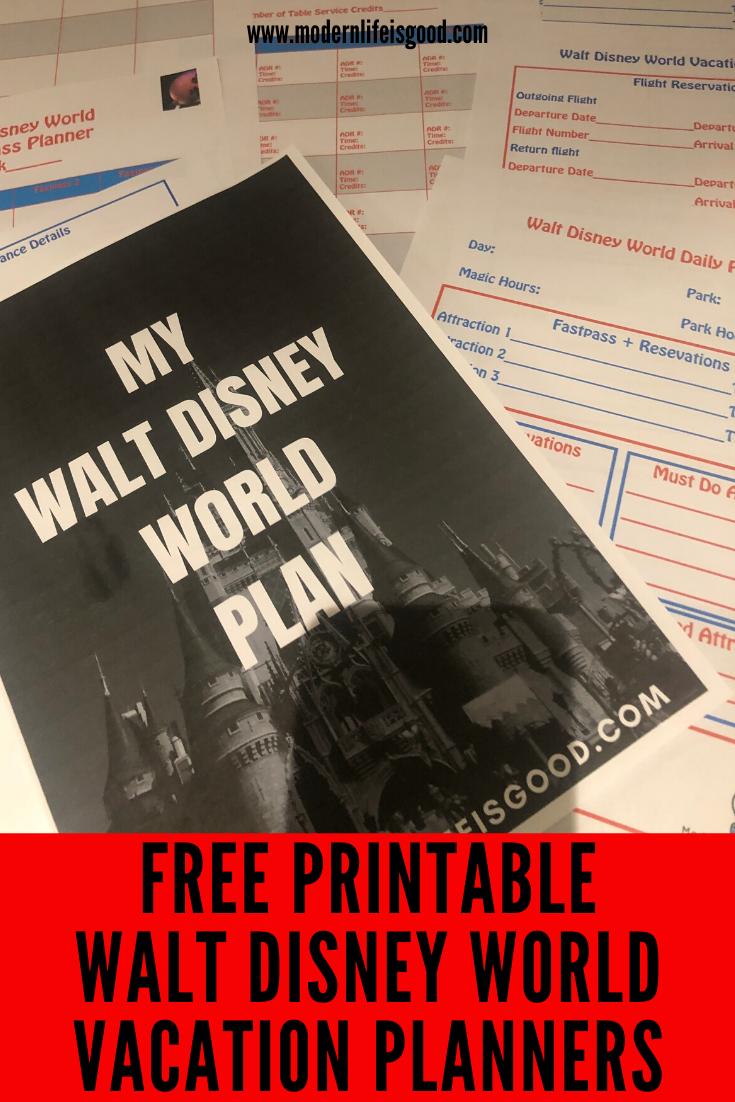 Free Walt Disney World Planners