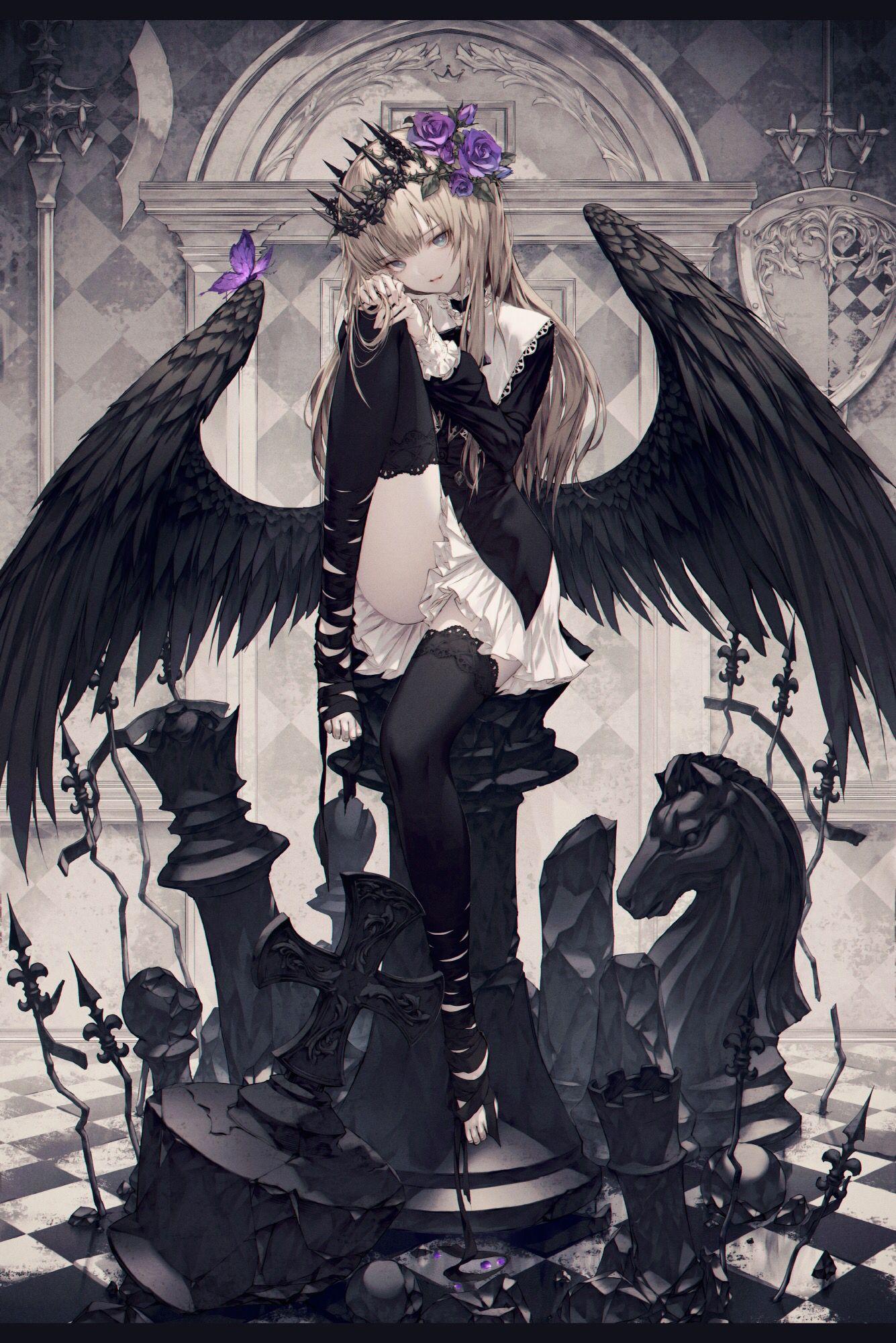 Anime Fallen Angel Art  Materi Pelajaran 8