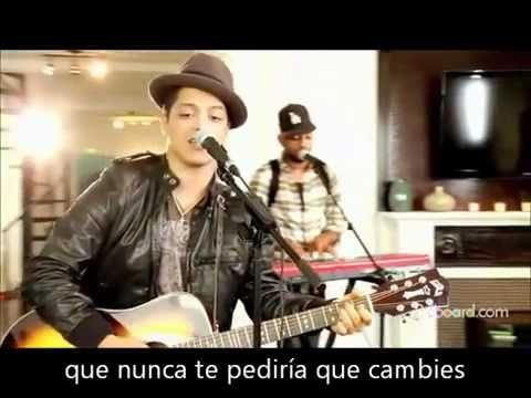 Bruno Mars Asi Como Eres Acustico Bruno Mars Youtube Canciones