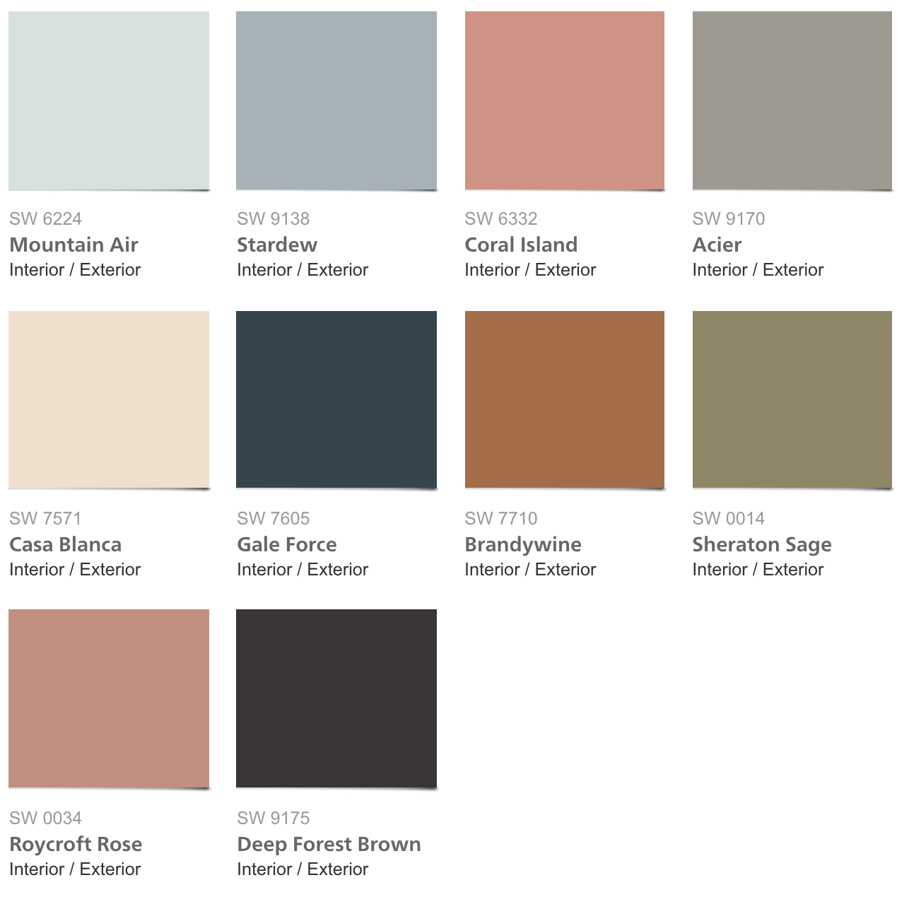 Sherwin-Williams Colormix™ 2017 Color Forecast #dessertneutrals ...