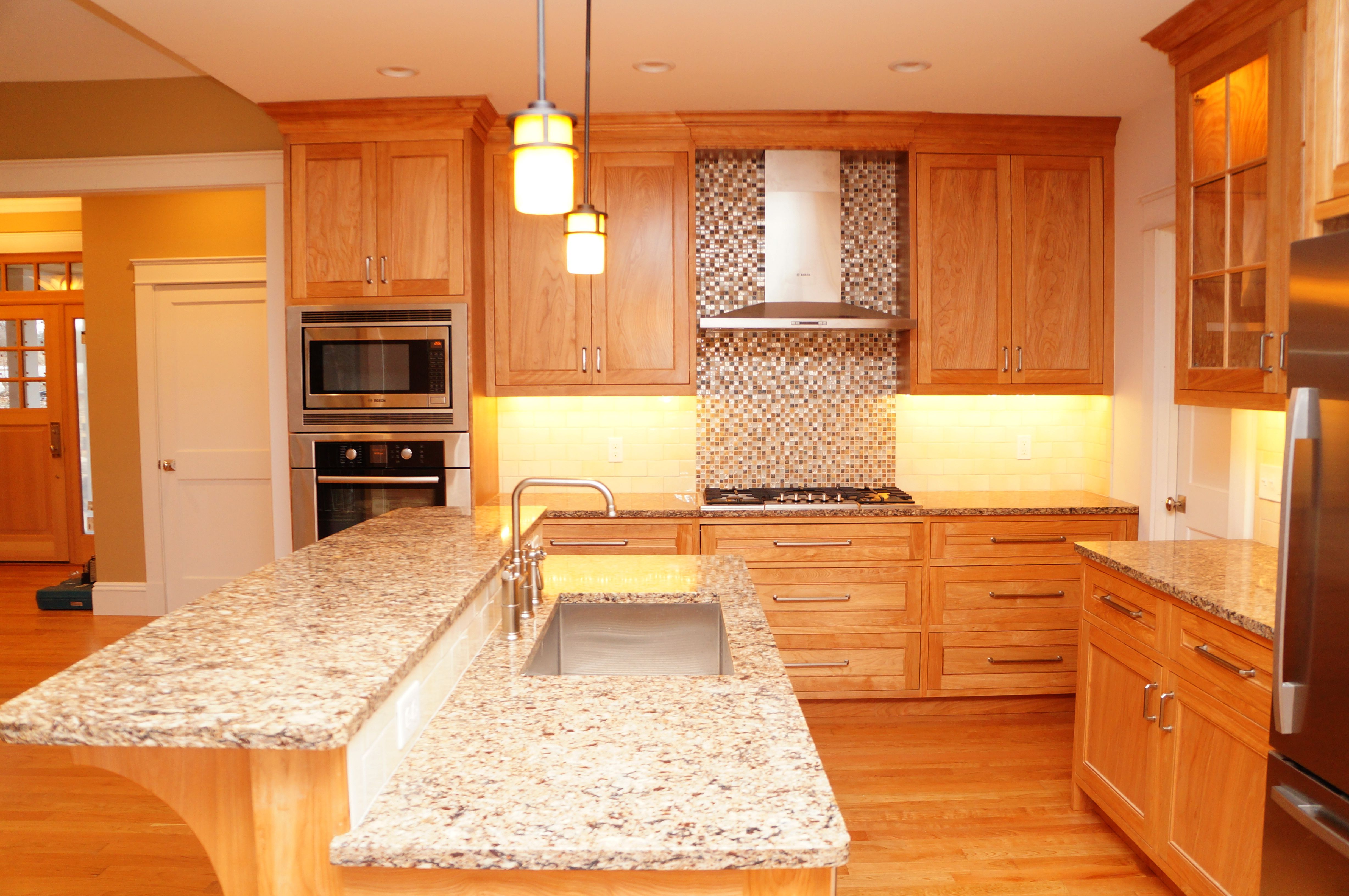 Red Birch Kitchen Handcrafted By Taylor Made Cabinets Leominster Ma Serving Machusetts For Fine