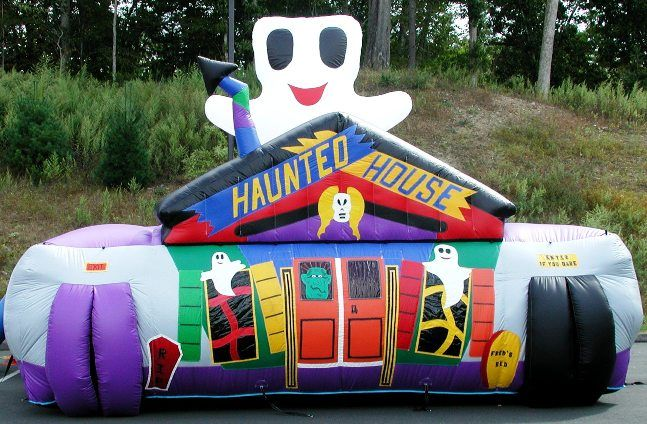 inflatable haunted house halloween rental for kids