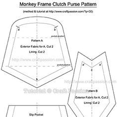 Monkey Coin Purse Free Sewing Pattern Sacs Et Porte