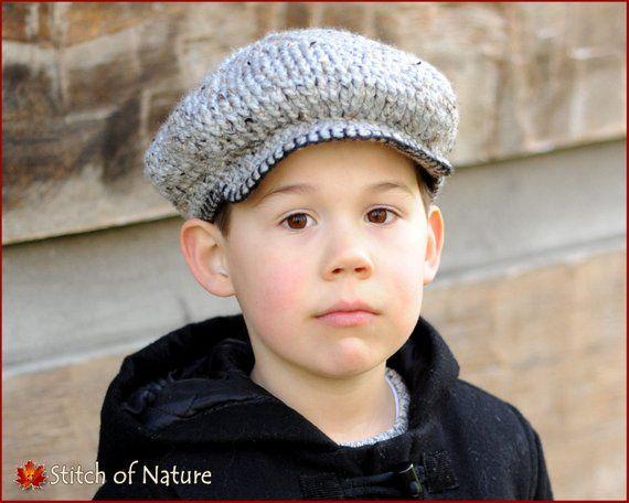 00e61c18d0 Crochet PATTERN - The Byron Scally Cap, Newsboy Hat, 1920s Hat ...
