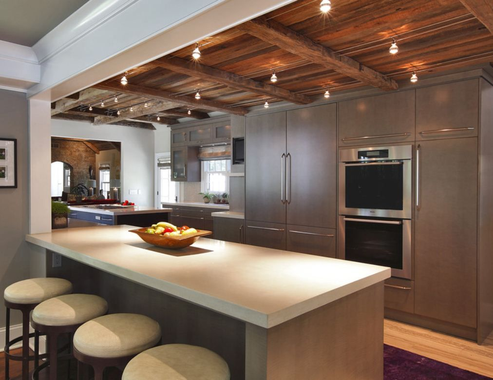 Popularity Of Gray Continues To Grow Dura Supreme Cabinetry On - Modern kitchen ceiling designs