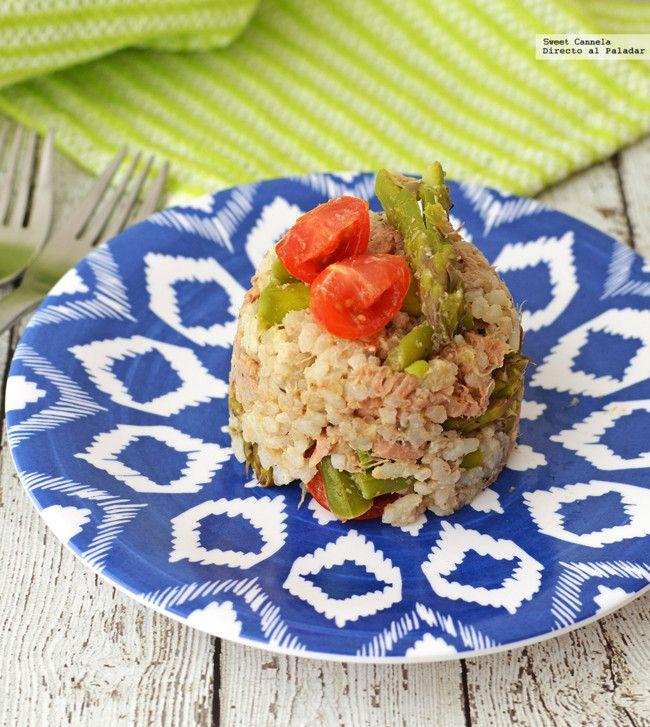 Ensalada de arroz con atún. Receta