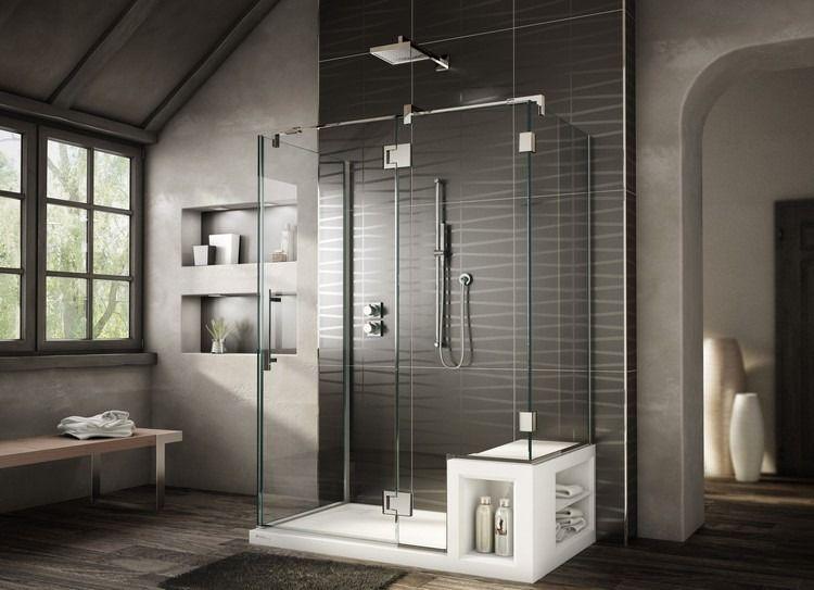 Salle de bain avec douche italienne  tout savoir avant de l\u0027aménager! - Salle De Bain Moderne Douche Italienne