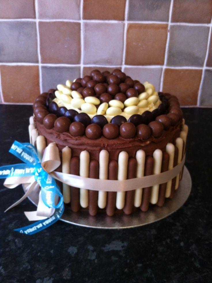 Chocolate birthday cakes with wishes 2015 Birthday cake
