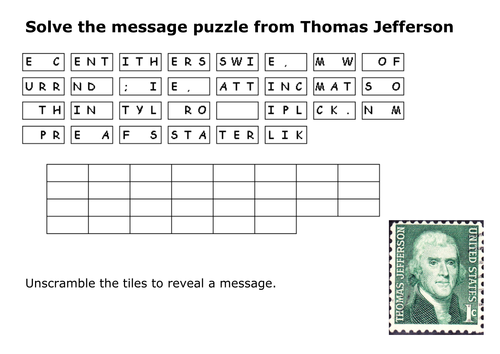 thomas jefferson word finds - Yahoo Image Search Results