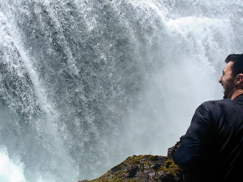 Lewis River...Lower Falls with Luke:)