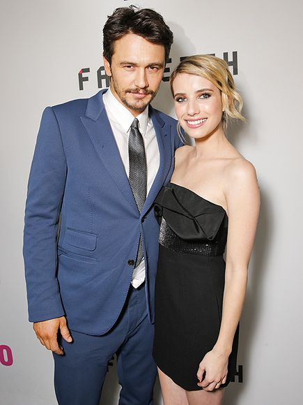 POLISHED OFF | All dressed up for their moment in the spotlight, Palo Alto's James Franco and Emma Roberts debut their film (which he co-wrote!) in Los Angeles on Monday night.