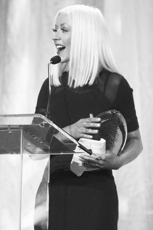 Christina Aguilera at Muhammad Ali Humanitarian awards, 2013. This was so sweet!!! I cried when she cried and laughed when she laughed!! I am so happy for her!!!