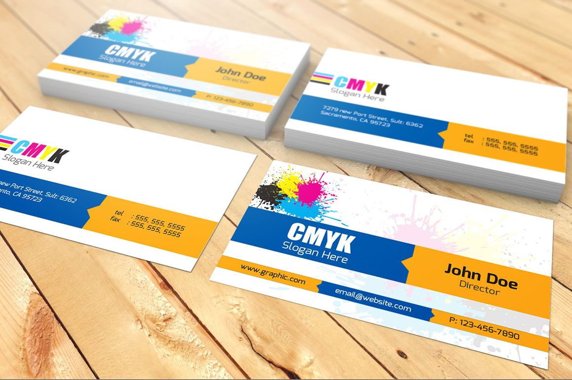 CMYK Visiting Card | Corporate style, Adobe and Business cards