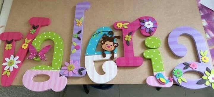 Pin de alejandra en valentina pinterest nombres - Letras decorativas para ninos ...