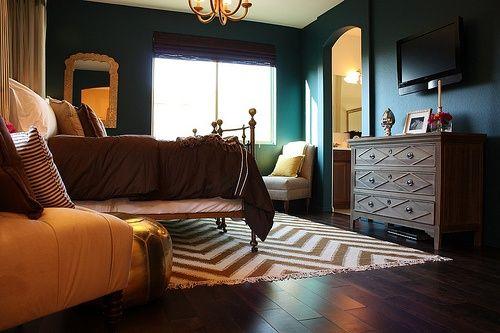 Perfect Peacock Blue. Dining Room. Nate Berkus Designs A Bedroom