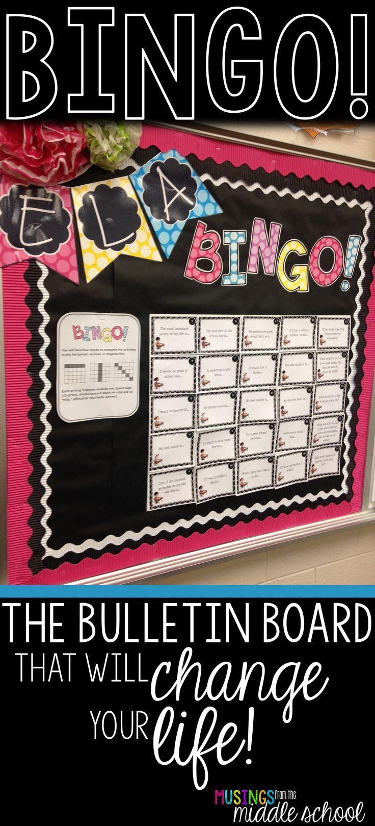BINGO! - An Anchor Activity for ELA   Bulletin Boards