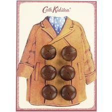 ButtonArtMuseum.com - Duffle Coat Button Card