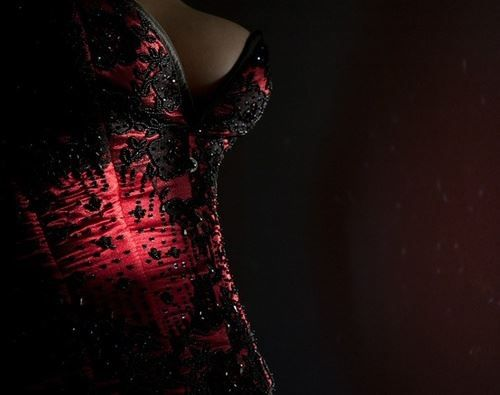 Image result for corset art black and red