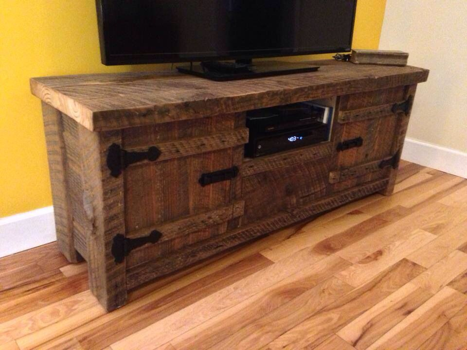 Barnwood entertainment center | PinMaster handcrafted barnwood ...