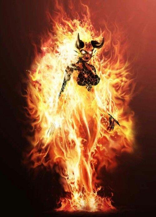 fire demon fantasy in