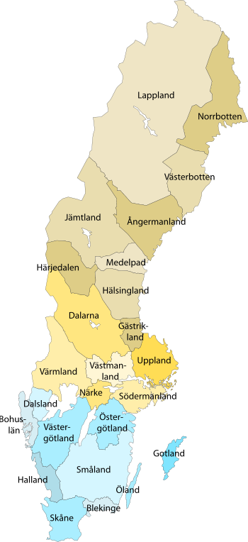 Sverige Sweden Map City Print And Print Print - Sweden maine map