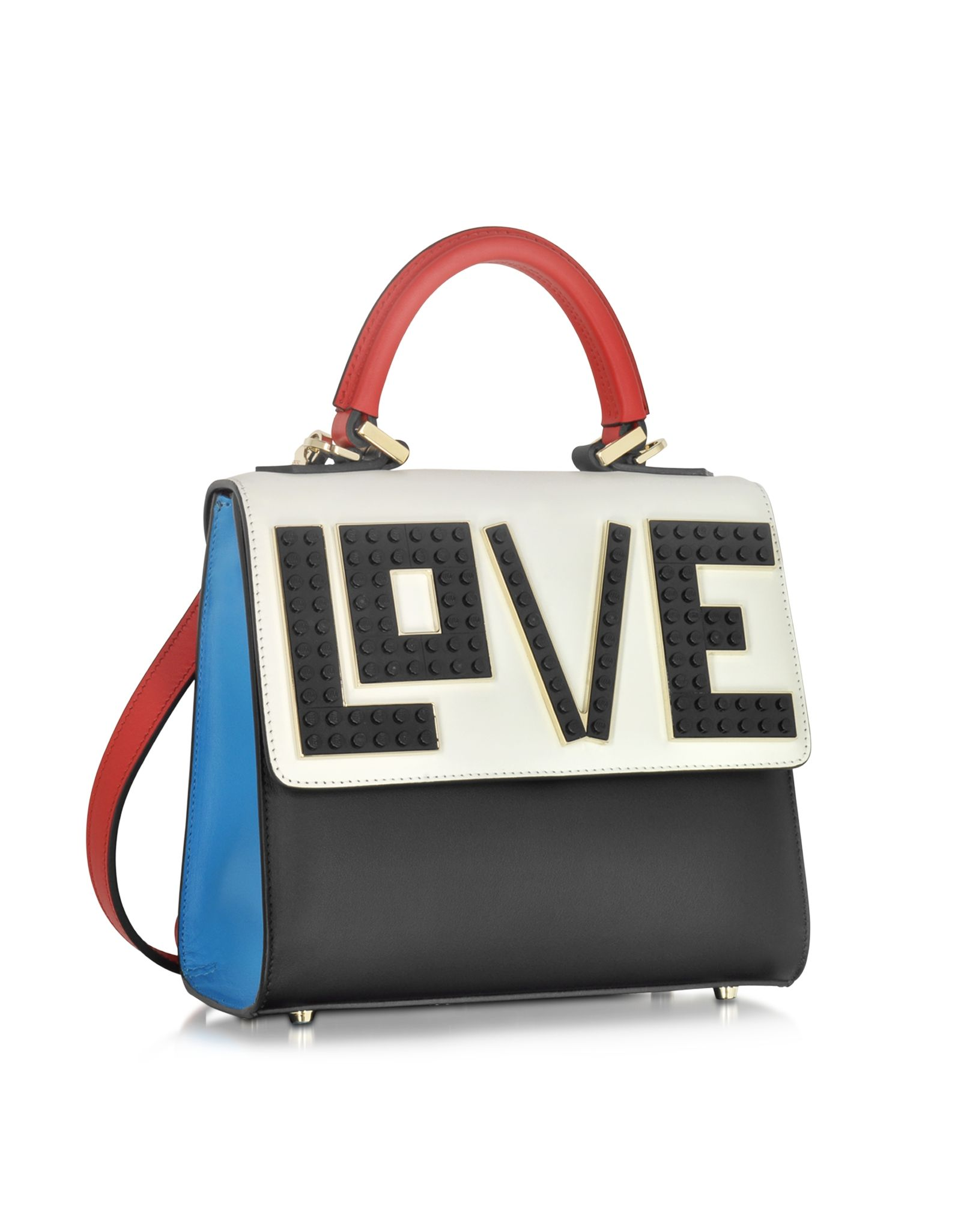 3cb82c37a Mini Alex Rainbow Love Color Block Leather Handbag, crafted in leather with  multicolor Lego detail