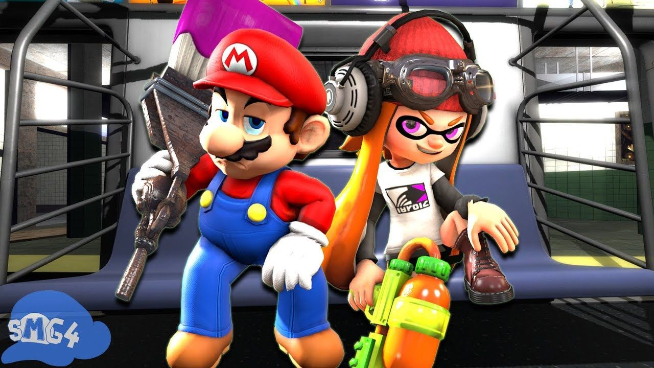 SMG4: If Mario Was In    Splatoon 2 - YouTube | Funny Videos
