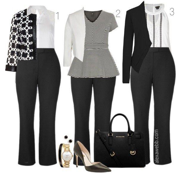 Workwear Inspiration - Monochromatic Looks for Work - Alexa Webb
