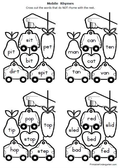 Free Rhymes Worksheets Kindergarten Phonics Worksheets Phonics Free Rhyming Worksheet Free rhyming worksheets for first grade