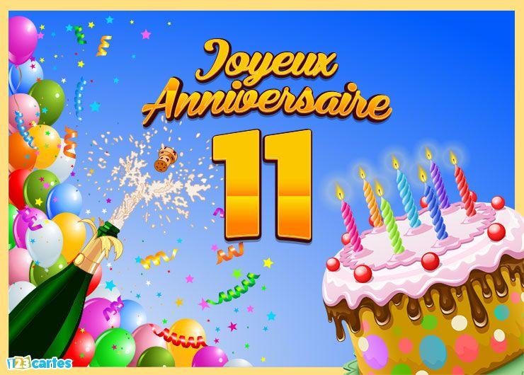 Carte Joyeux Anniversaire 11 Ans Cadres Pinterest Birthday