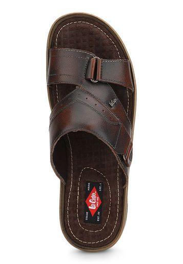 Brown Slippers Sandal Pria Sepatu Sandal