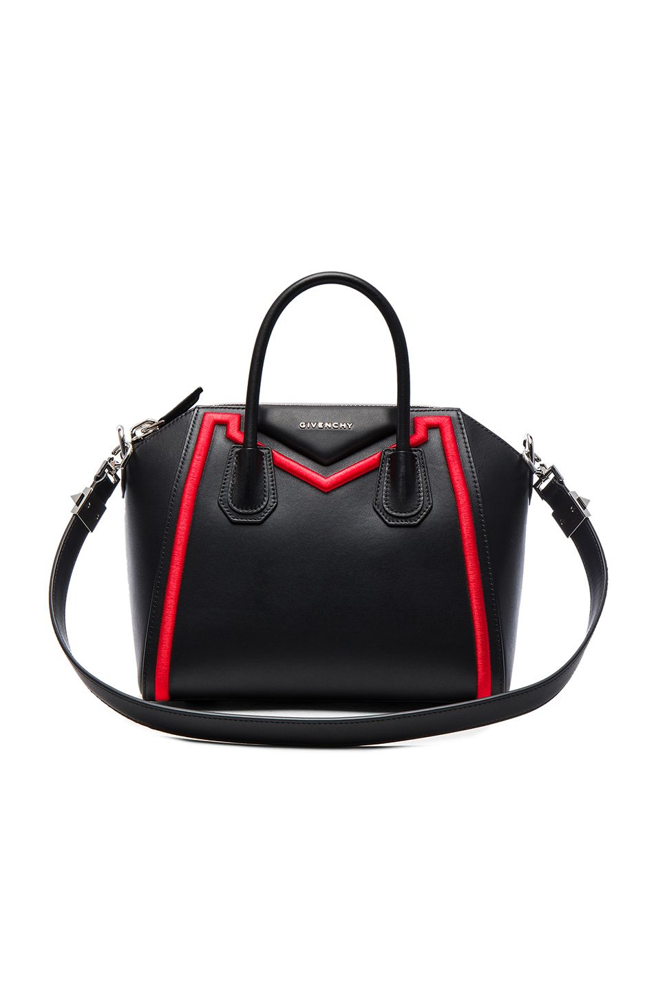 59957b46d1b8 GIVENCHY Small Embroidered Frame Antigona.  givenchy  bags  shoulder bags   hand bags  canvas  leather  lining