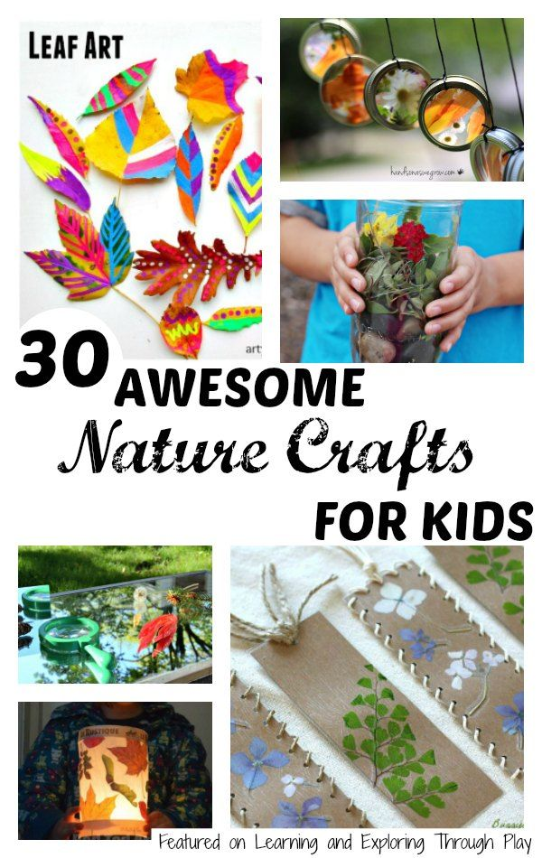 30 nature crafts for kids nature crafts kids learning and nature activities. Black Bedroom Furniture Sets. Home Design Ideas