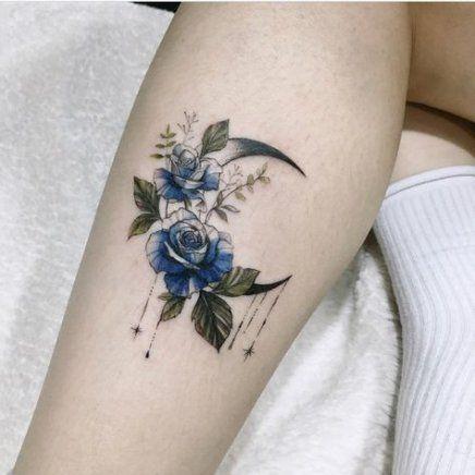 58+ Ideas Tattoo Moon Flower Beauty