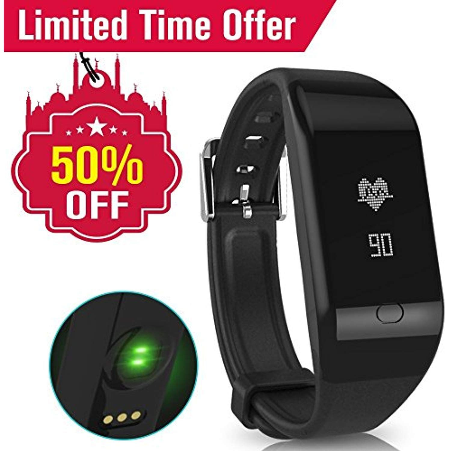 Fitfly Heart Rate Monitor Waterproof Bluetooth Smart