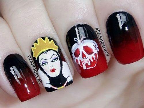 Halloween Nail Art Disney Nails Art Pinterest
