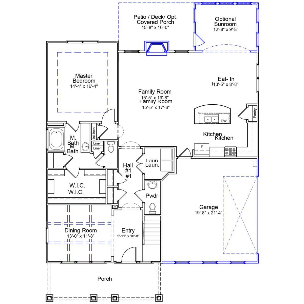 Newbury Mungo Homes Flex Room Family Room Covered Porch