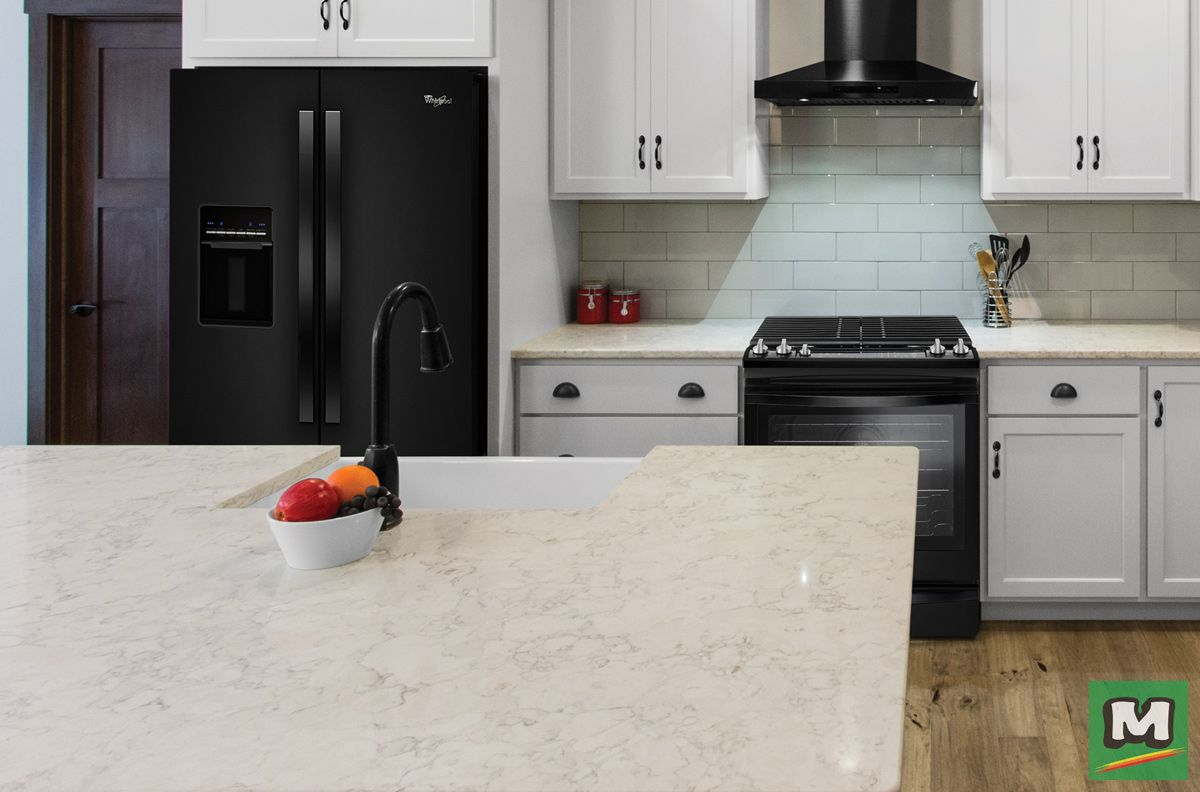 Bianco Perle From Riverstone Quartz Is A Trending Kitchen Countertop Color As An Added Bonus Easy To Maintain No Need Seal Or Wax