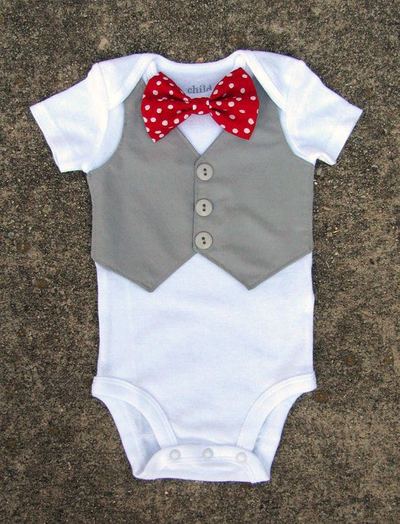 Interchangeable Bow Tie Onesie 18 Months Short Sleeve
