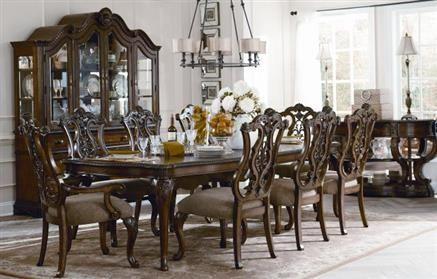 Pemberleigh Gracious Living Walnut 9pc Dining Room Set