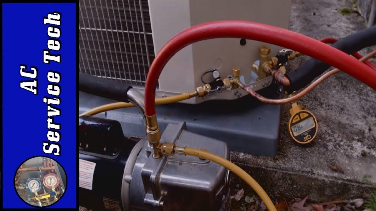 HVAC Full Vacuum Procedure From Start to Finish! YouTube